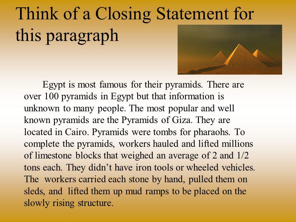 Ancient Egypt Paragraph