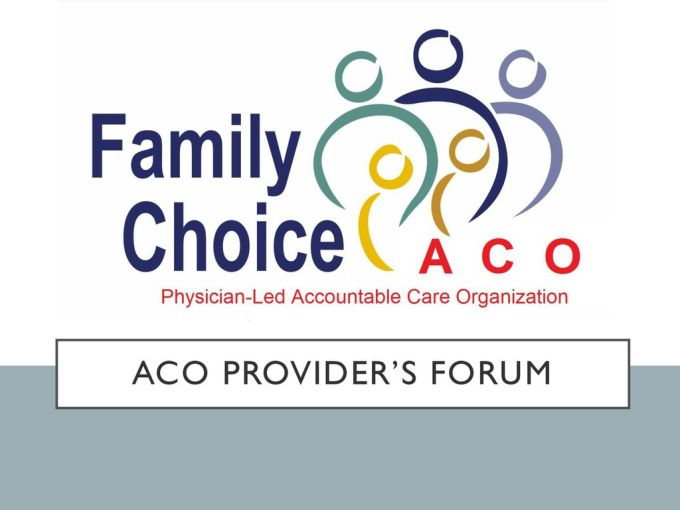 Aco Provider S Forum Ppt Download