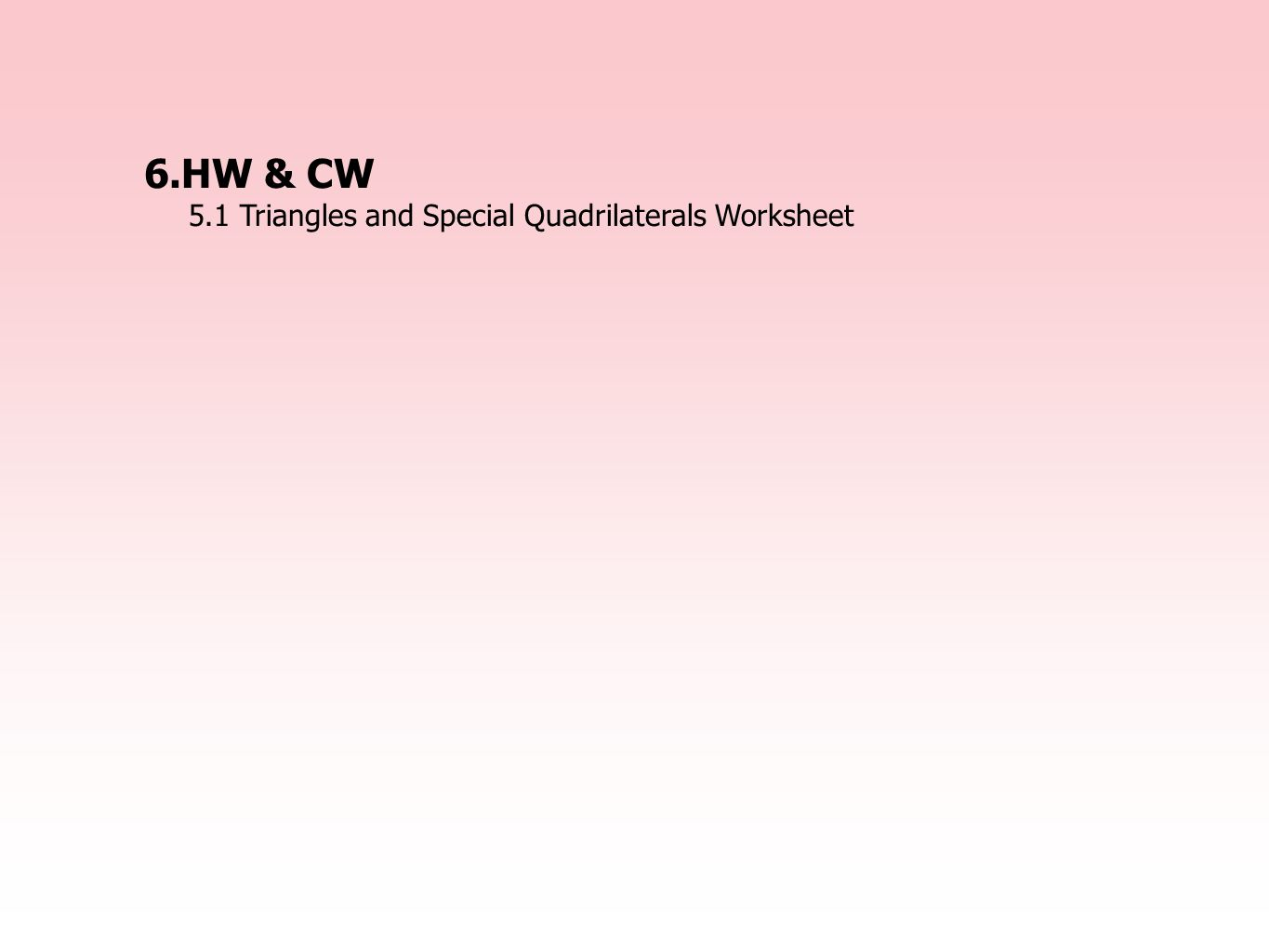 Worksheet On Quadrilaterals For Class 7