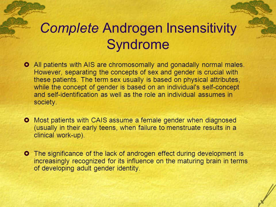 People Syndrome Complete Insensitivity Androgen