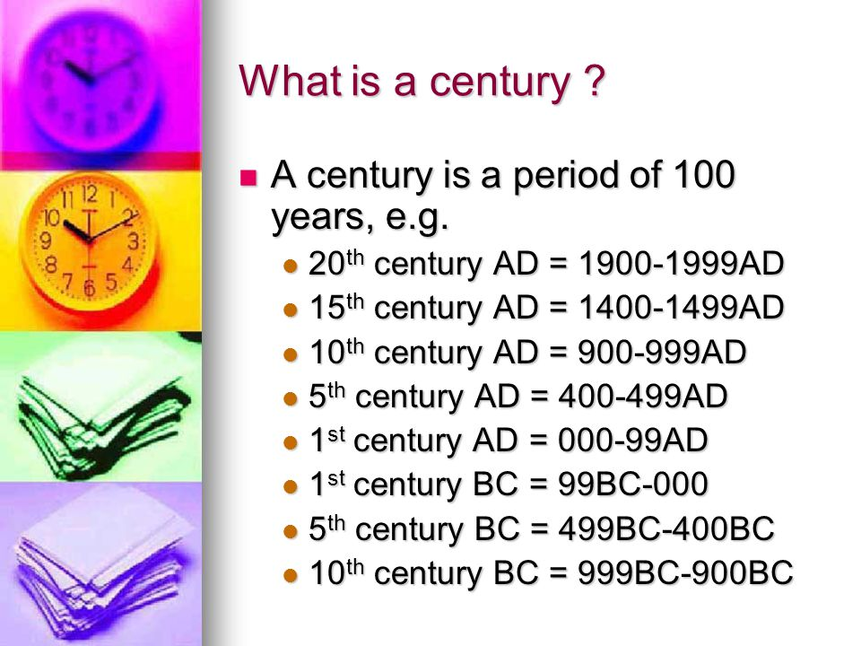 List And Centuries Years
