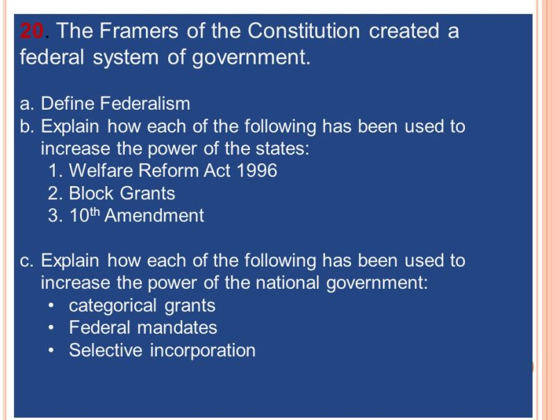 The Framers Of Constitution Intended To Quizlet | Allcanwear org