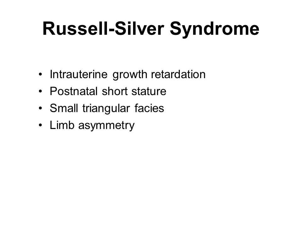 Syndrome Russell Silver Chart Growth