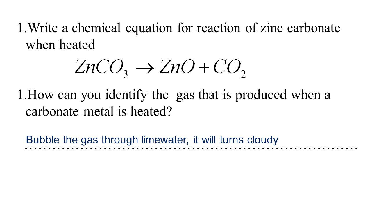 Sodium Carbonate Heated Equation