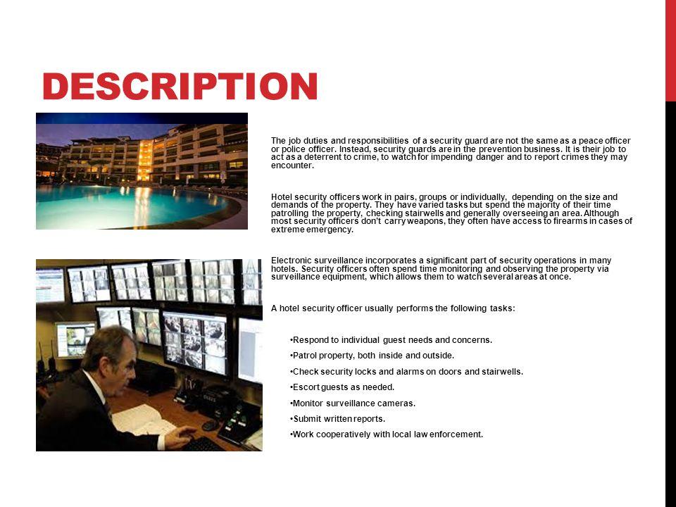 Mall Security Job Description