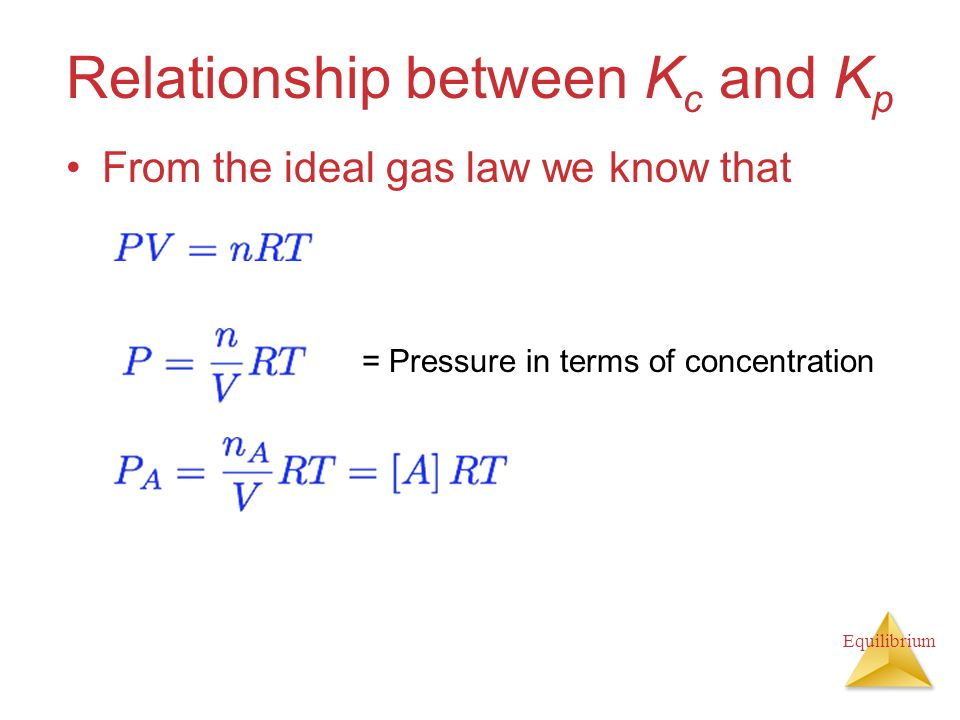 What Relationship Between Kc And Kp