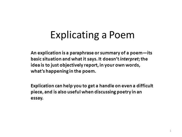 poem explication essay example poetry 3 using an explication