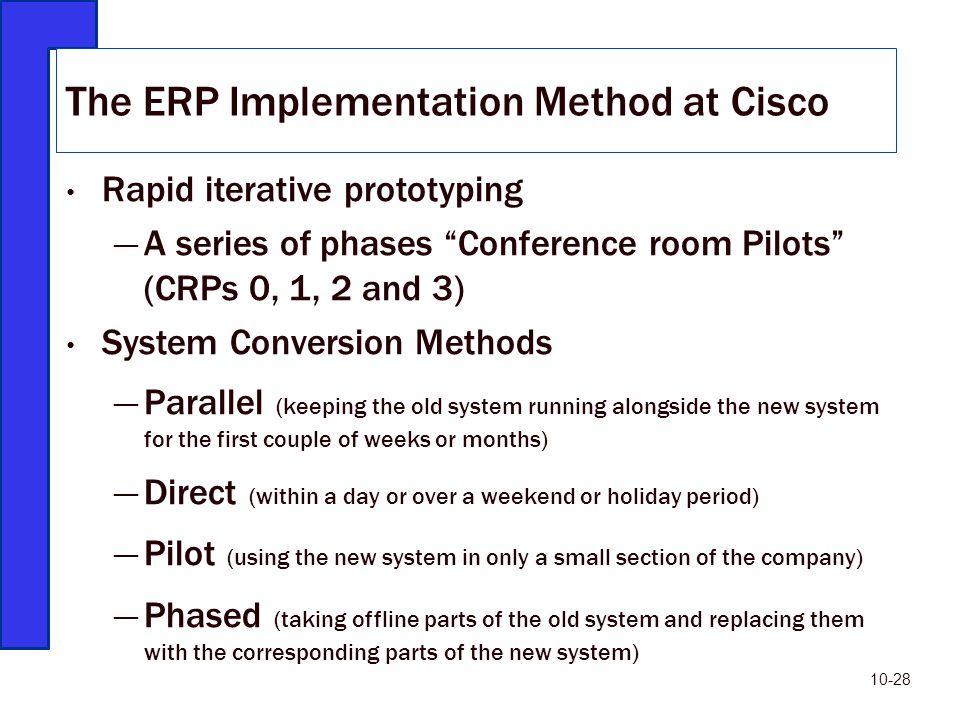 cisco erp implementation