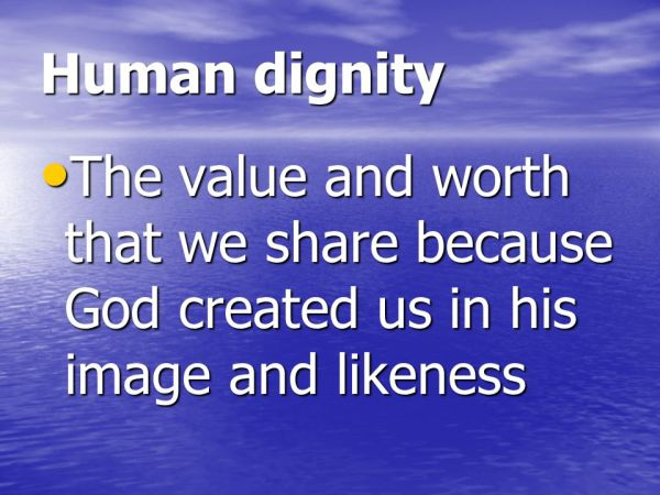 Image result for human dignity (created in God's image)