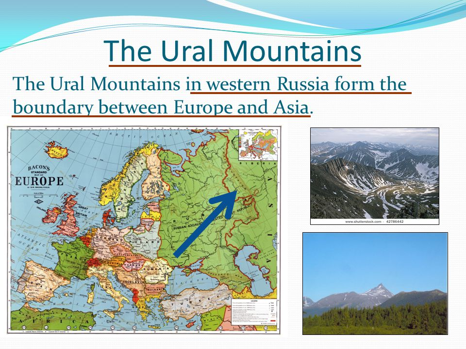 Ural Mountain Range Map