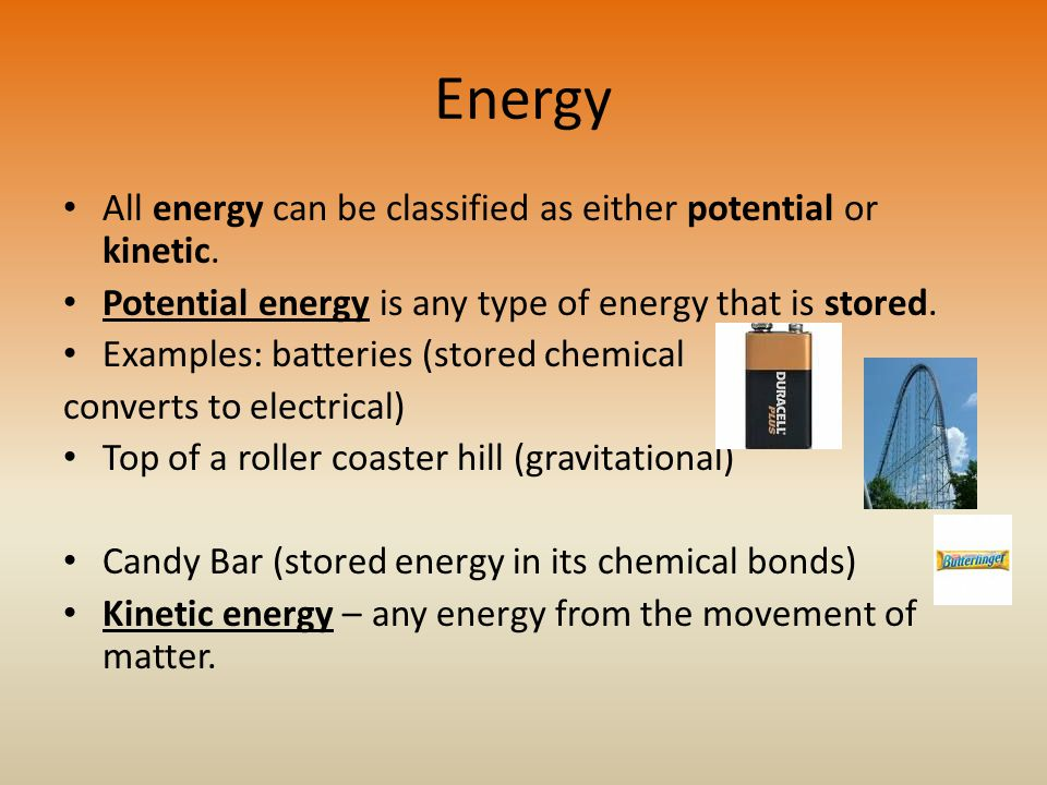 Examples Kinetic Energy Chemical
