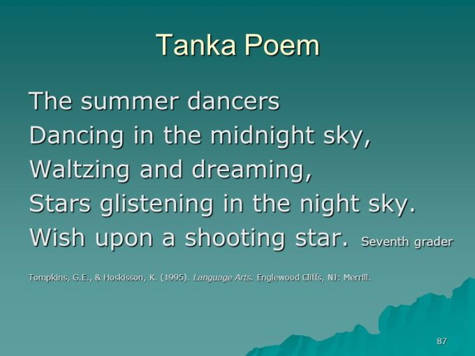 What Does A Tanka Poem Look Like Textpoems