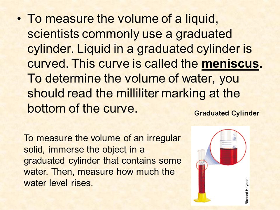 What Scientists Use To Measure Volume Units