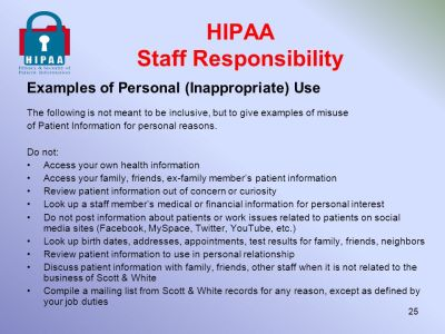 Privacy & Security of Patient Information ppt download
