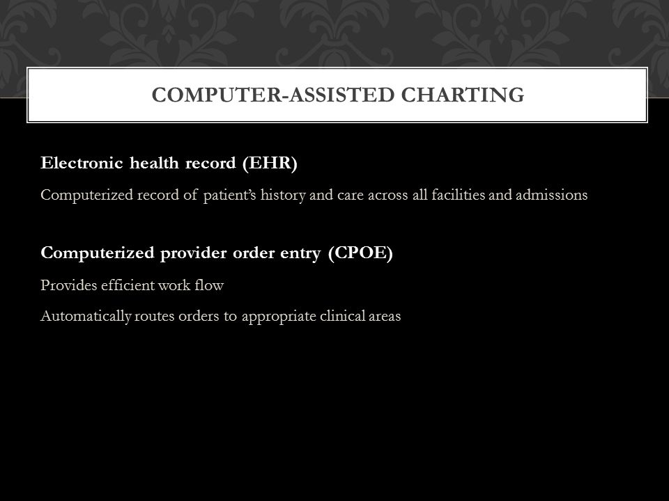 Computerized Charting Health Care