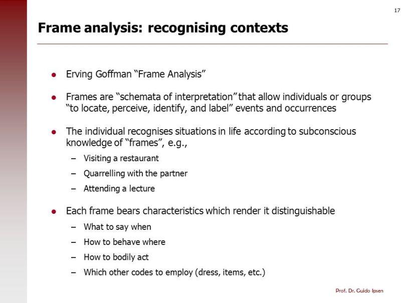 Goffman Framing Analysis | Frameswalls.org