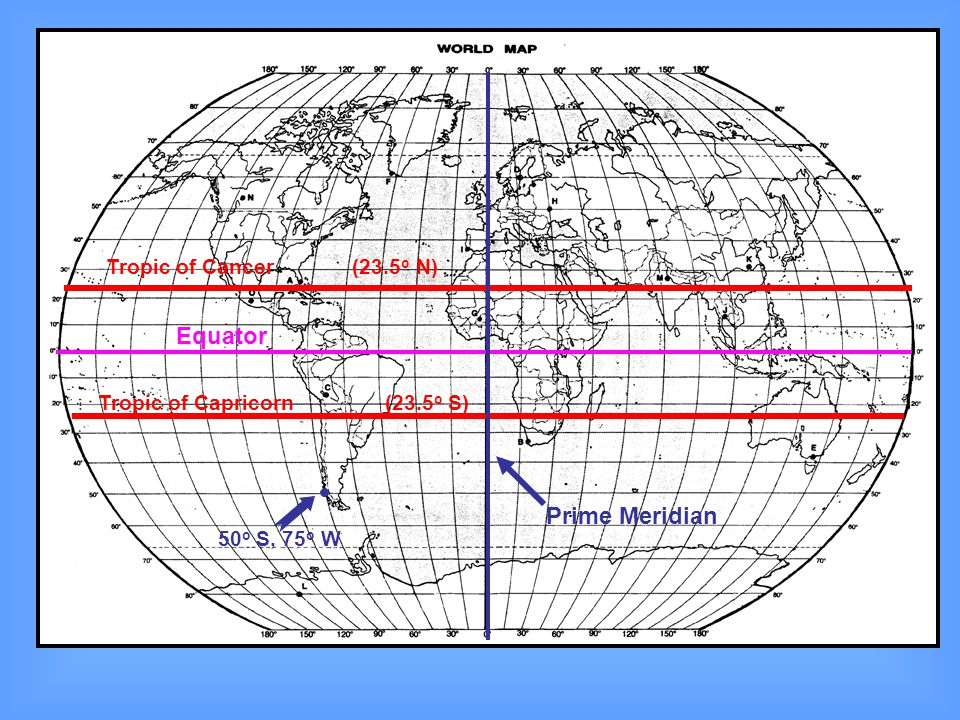 Map Earth And Equator Prime Meridian