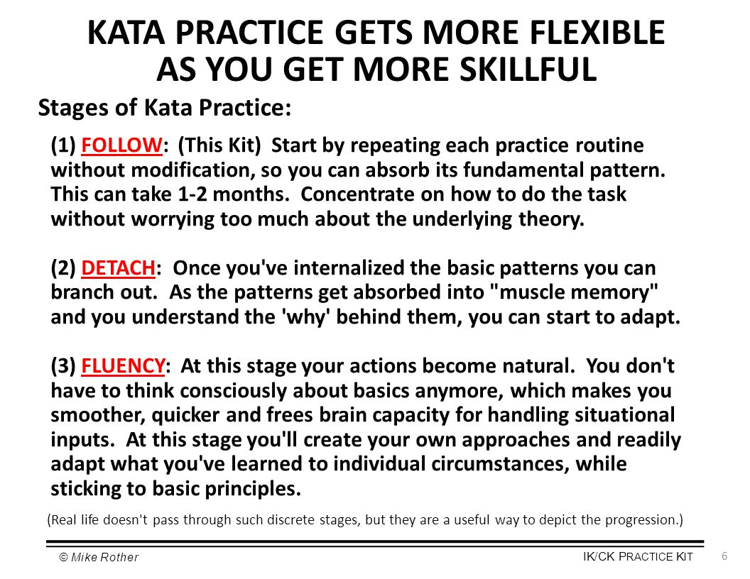 Practice Kit Improvement Kata Amp Coaching Kata