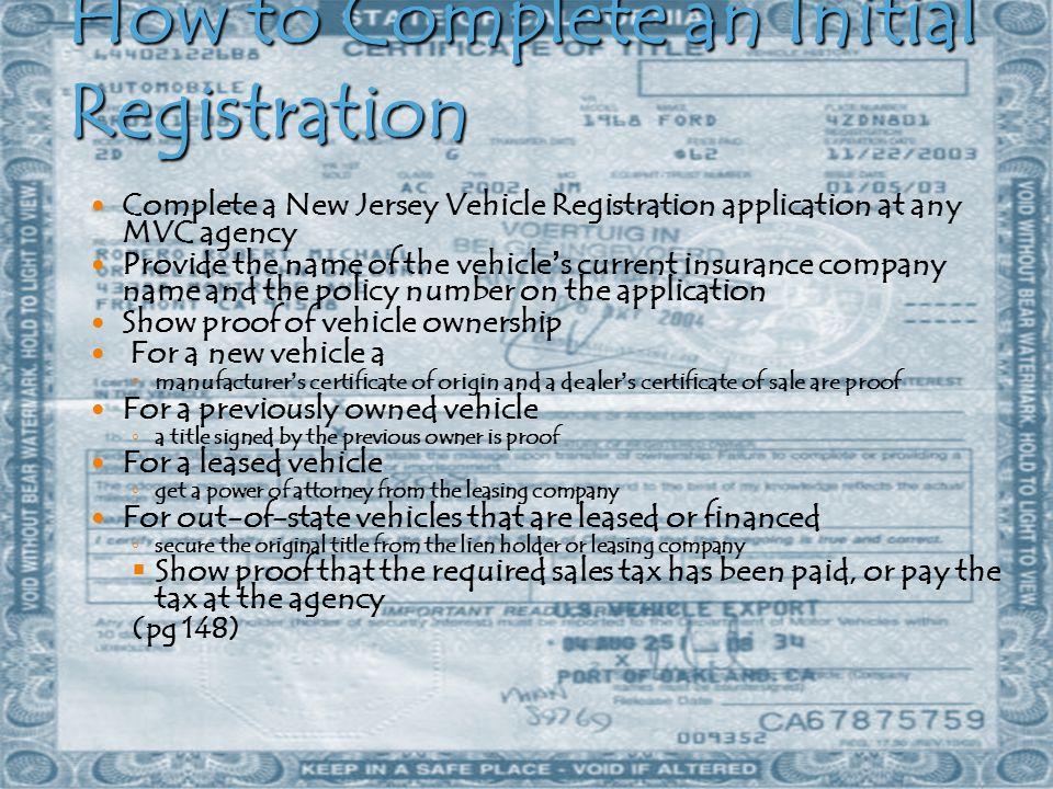 Pay Registration Online Nj