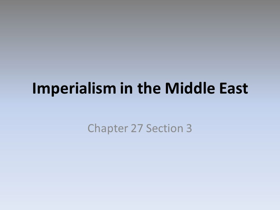 Middle East Imperialism 1913