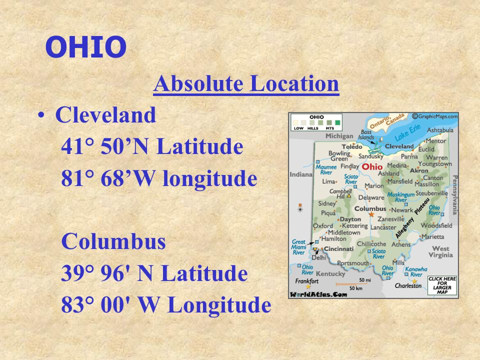 Absolute Location Cleveland Ohio