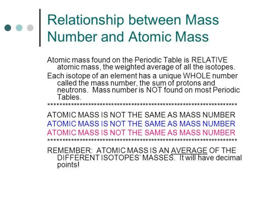 Why is the mass number not on periodic table periodic diagrams atoms and elements chapter 4 ppt online urtaz