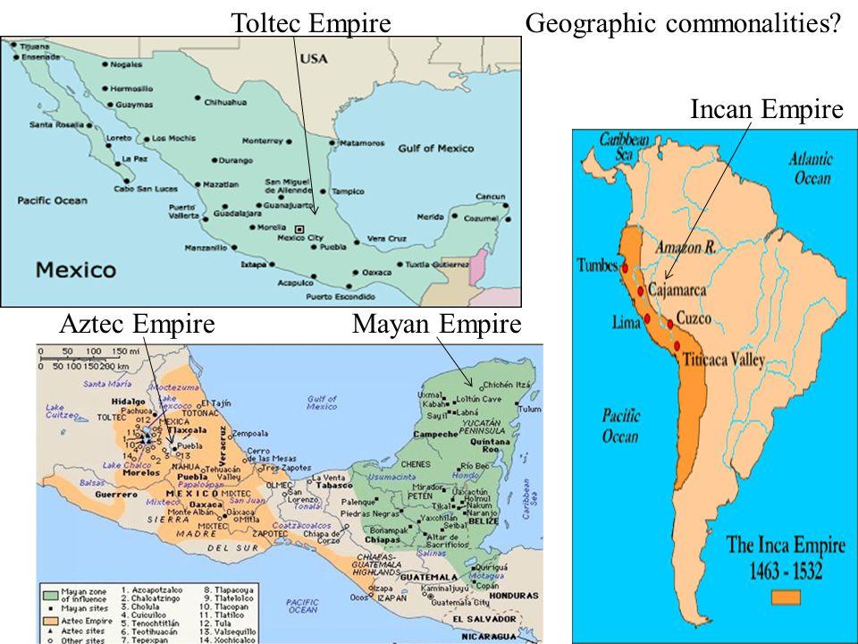 Map Mayan Incan And Aztec Empire