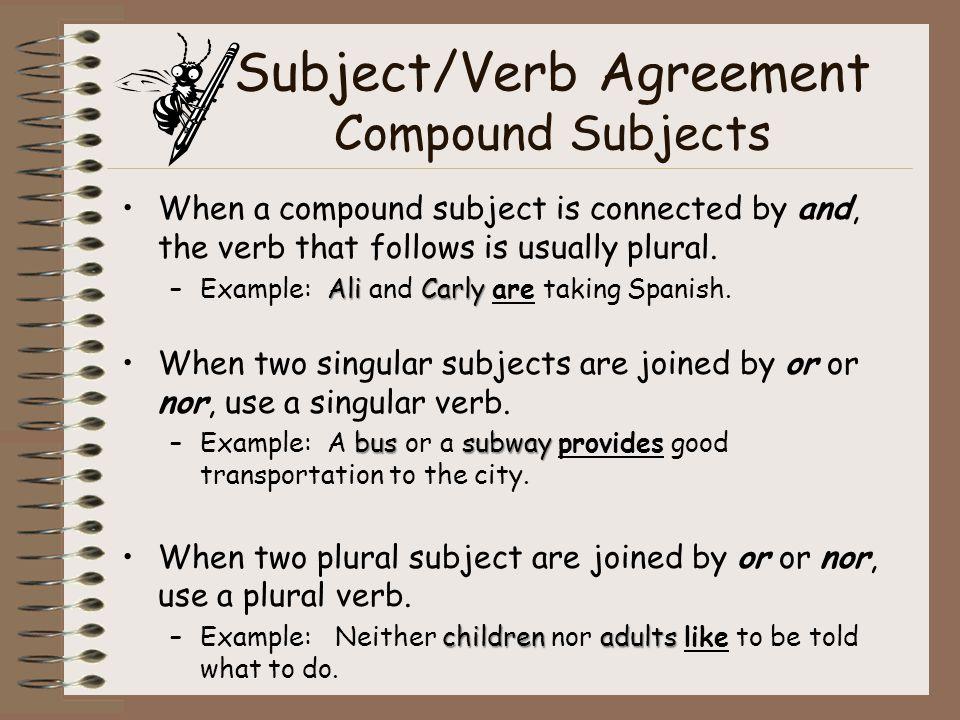 Agreement Subject Spanish Verb