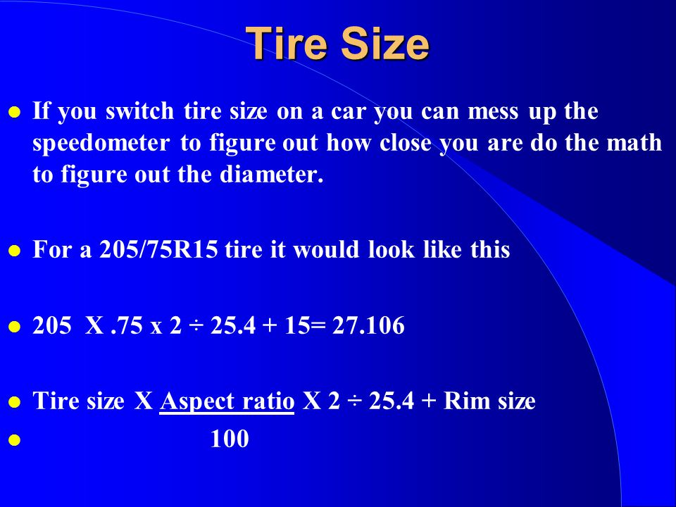 Can I Change Tire Aspect Ratio