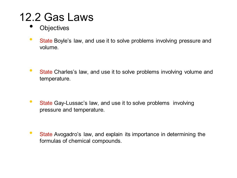 Chap 12 2 Gas Laws