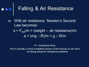 Newton's Second Law of MotionForce and Acceleration
