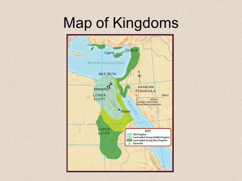 Map Of Ancient Egyptian Empire Shows Topographical Contours And