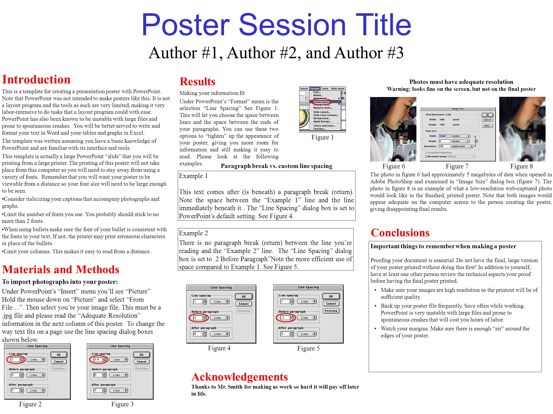 poster session title introduction this