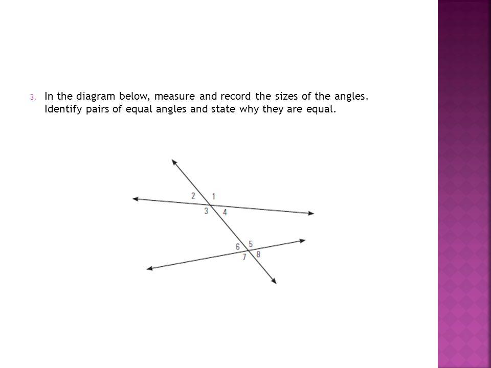 Parallel Lines Transversal Non Perpendicular