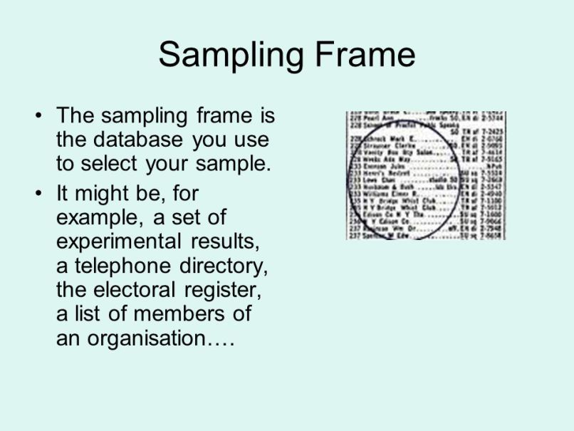 Beautiful Sampling Frame Elaboration - Framed Art Ideas ...