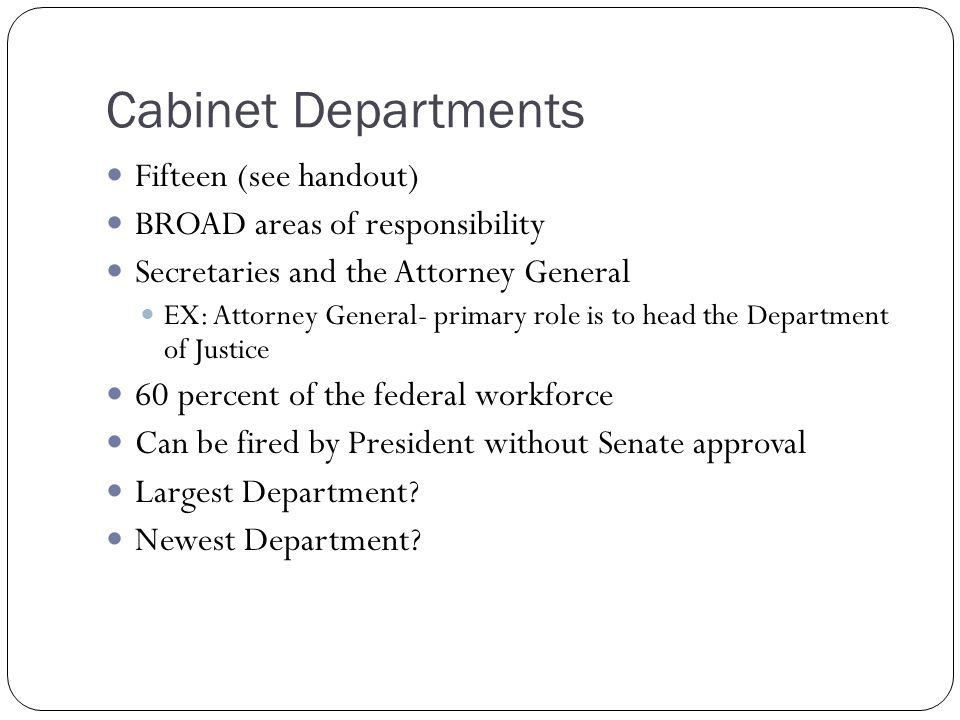 What Is The Presidents Cabinets Responsibility | Scifihits.com