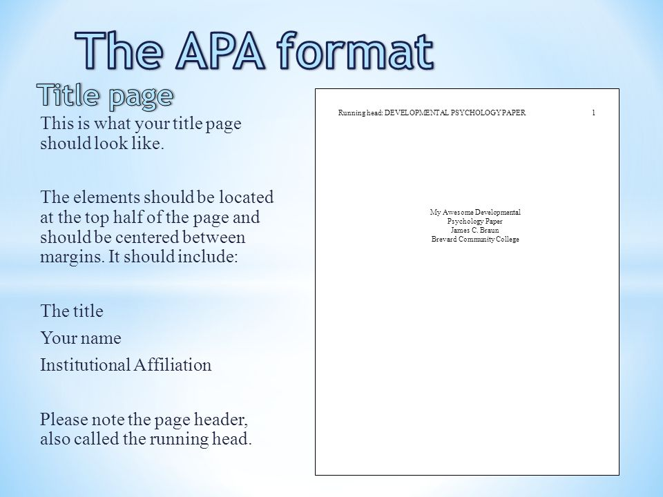 apa format free download
