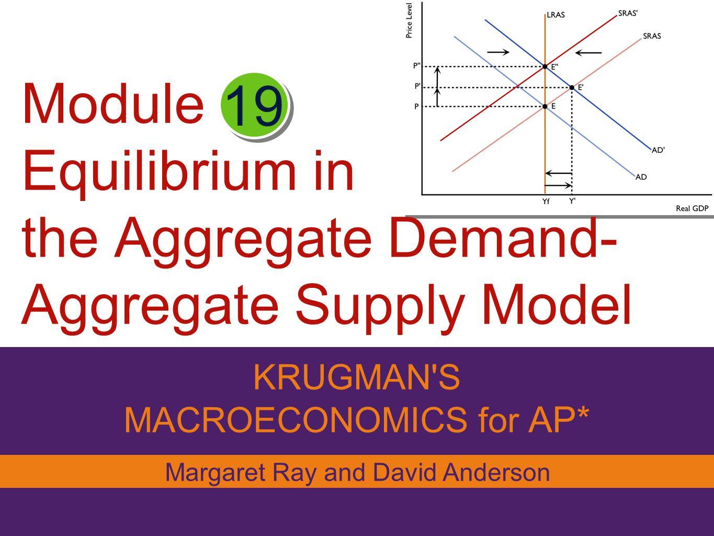 Module Equilibrium In The Aggregate Demand Aggregate