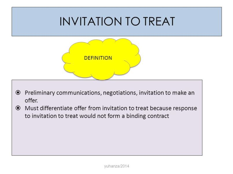 Definition of offer and invitation to treat invitationjpg invitation to treat definition preliminary communications negotiations make an offer stopboris Images