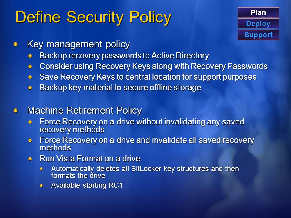 Define Security Policy