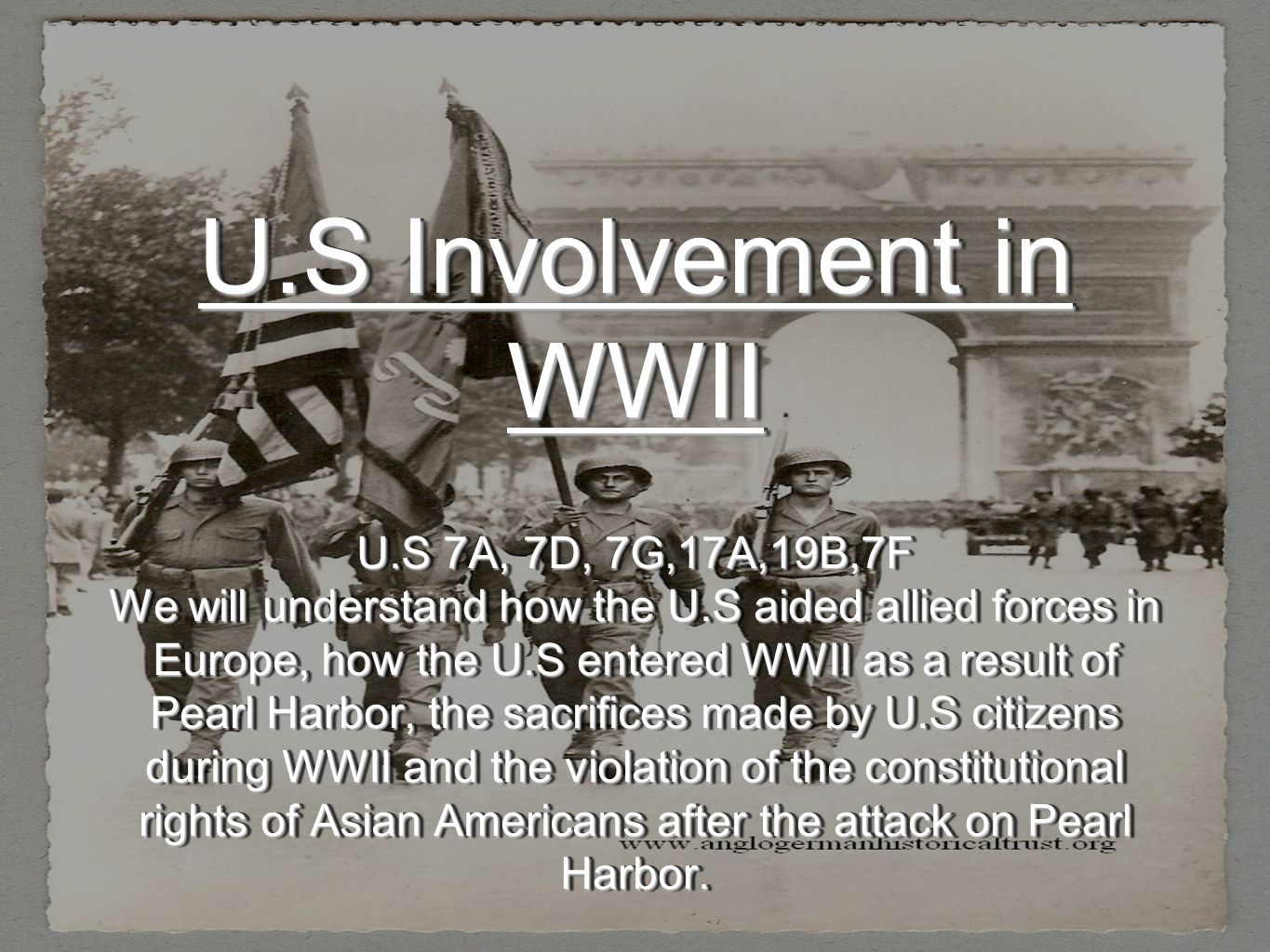 U S Involvement In Wwii U S 7a 7d 7g 17a 19b 7f