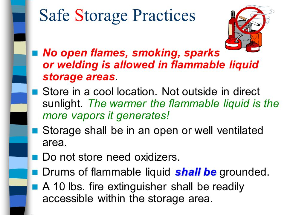Safe Handling Of Flammable And Combustible Liquids Ppt