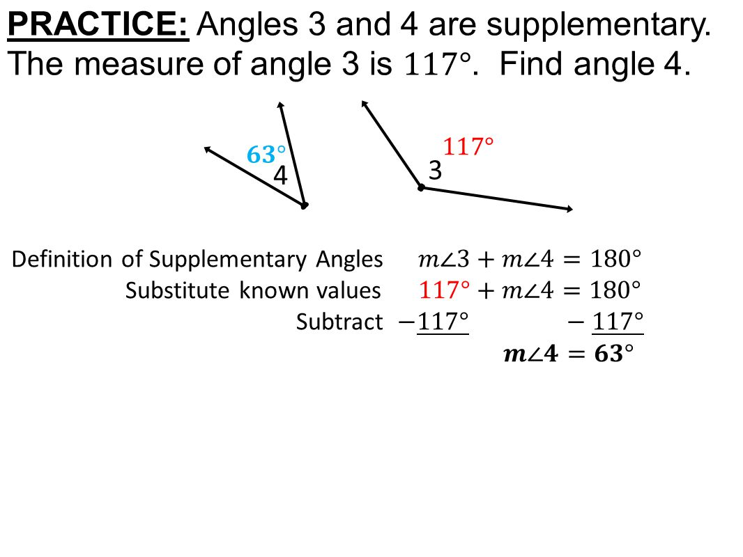 Today In Geometry Learning Goal 1 5 Angle Pair Relationships Adjacent Angles Complementary