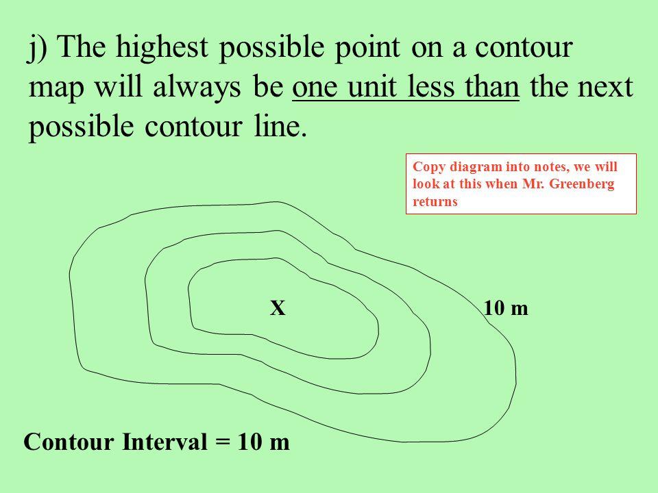 Contour Interval Map Worksheet