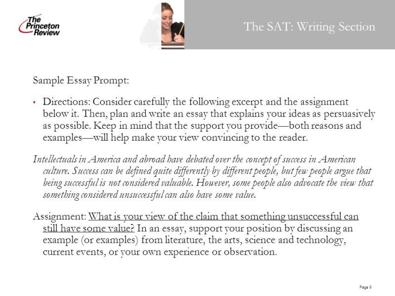 Examples To Use For Sat Essay. 10 Tips To Write An Essay And