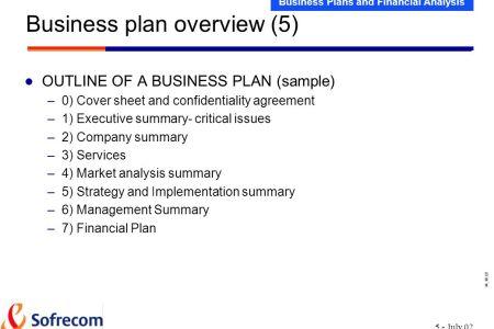 business plan financial plan sample
