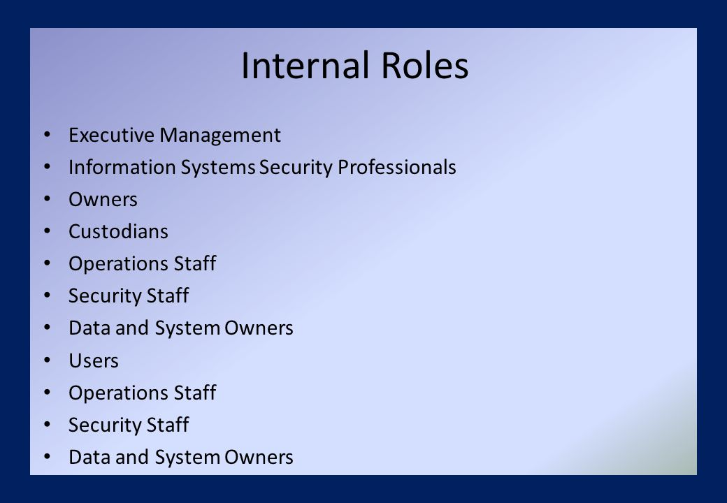 Executive Management Security