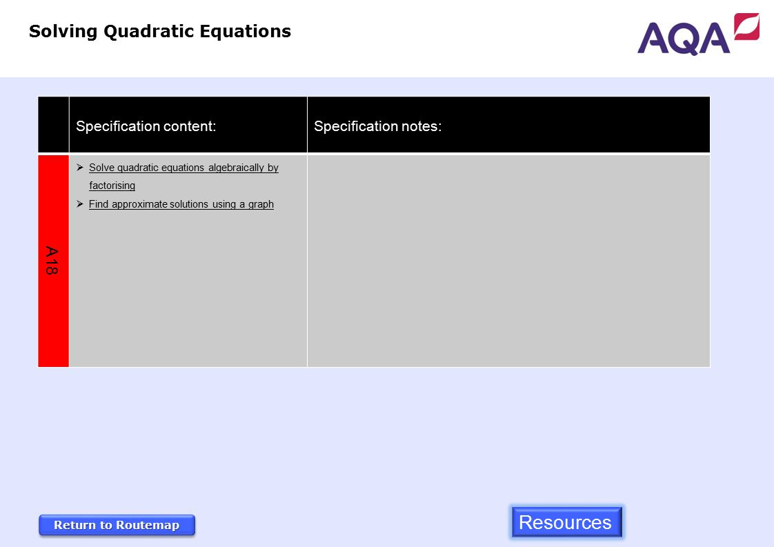 Gcse Mathematics 3 Year Foundation Tier Routemap Specification