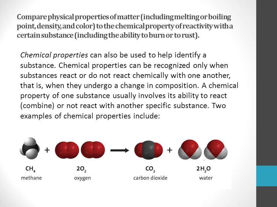 How Substance Are Chemical And They What Are Physical Used And Changes