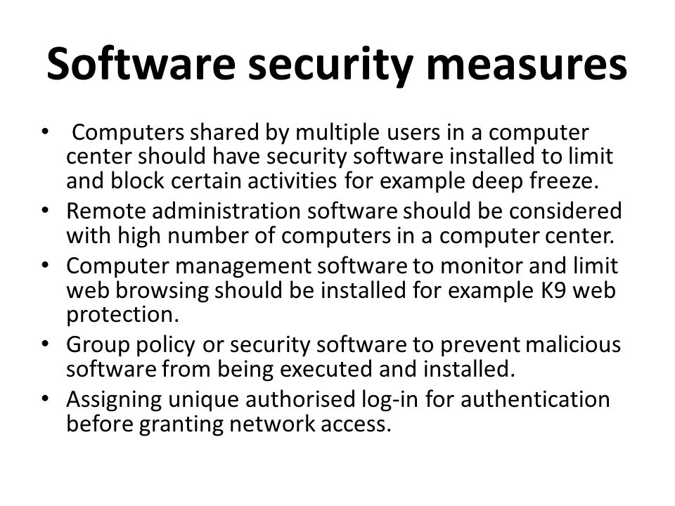Define Security Measures